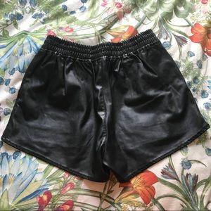 H&M Shorts - NWT H&M Pleather Shorts